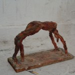 Raafed Jarah 115/ Acrobat, from white cement paper, 30 X 10 X 20 cm. 2006