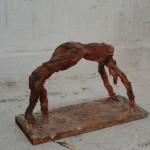 Raafed Jarah 115/ Acrobat, from white cement paper, 30 X 10 X 20 cm. 2006