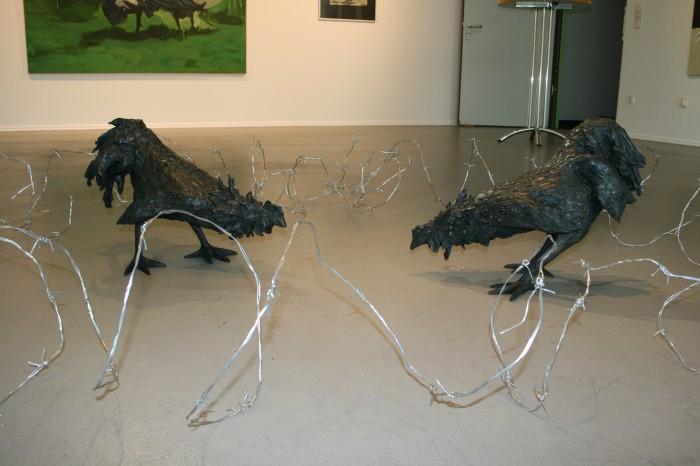 Raafed Jarah, fighting arena, Bronze, natural measure, 2009.